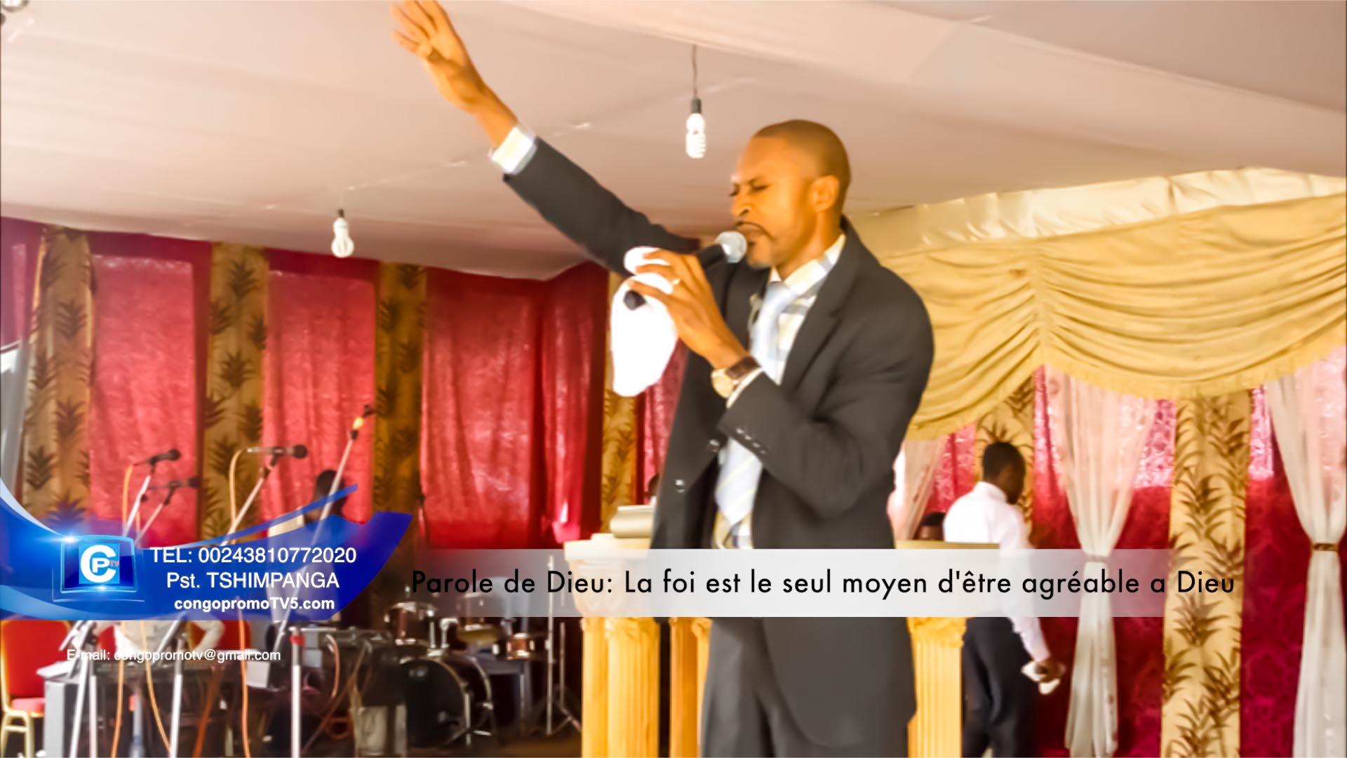 La foi est le seul moyen d'etre agreable a Dieu; c le theme de la predication copy